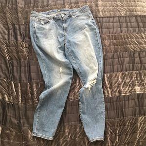 Gap distressed curvy jeans